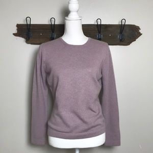 Pure Collection Sweater 100% Cashmere Crewneck EUC